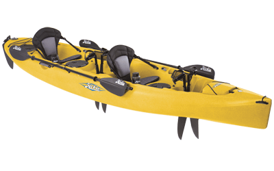 Yellow Hobie Mirage Oasis Tandem Kayak