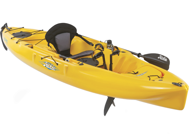 Yellow Hobie Mirage Kayak