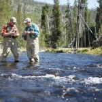 Two Men River Fly Fishing
