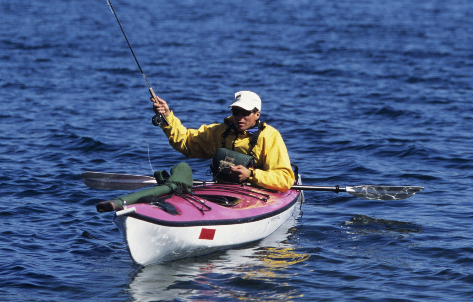 Man fishing on a kayak