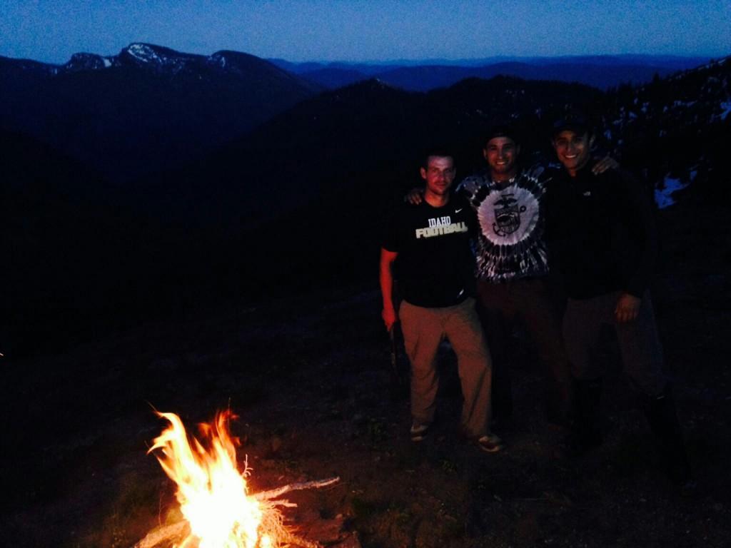 Camping in Idaho.
