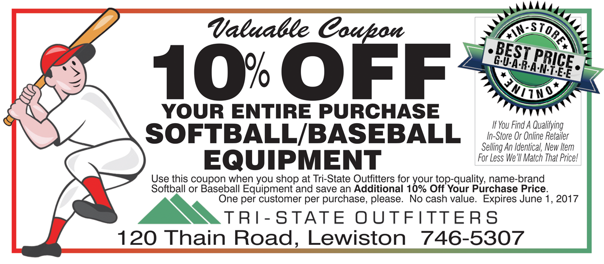 Lew Baseball Coupon