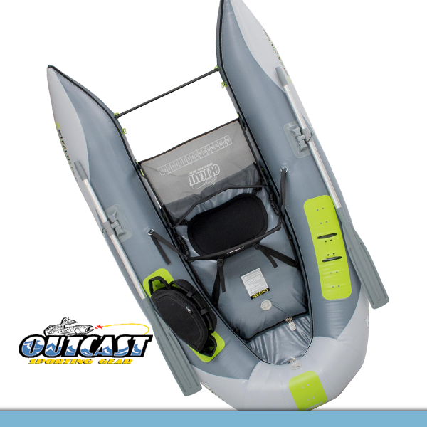 Outcast Stealth Pro Frameless  Pontoon Boat