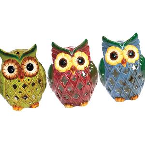 Solar LED Owls