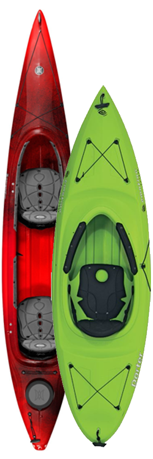 Perception Cove Tandem & Emotion Kayaks Darter Kayaks