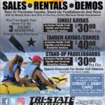 Moscow – Paddlesport Rentals Newsprint Advertisement