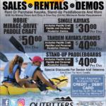 CDA – Paddlesport Rentals Newsprint Advertisement