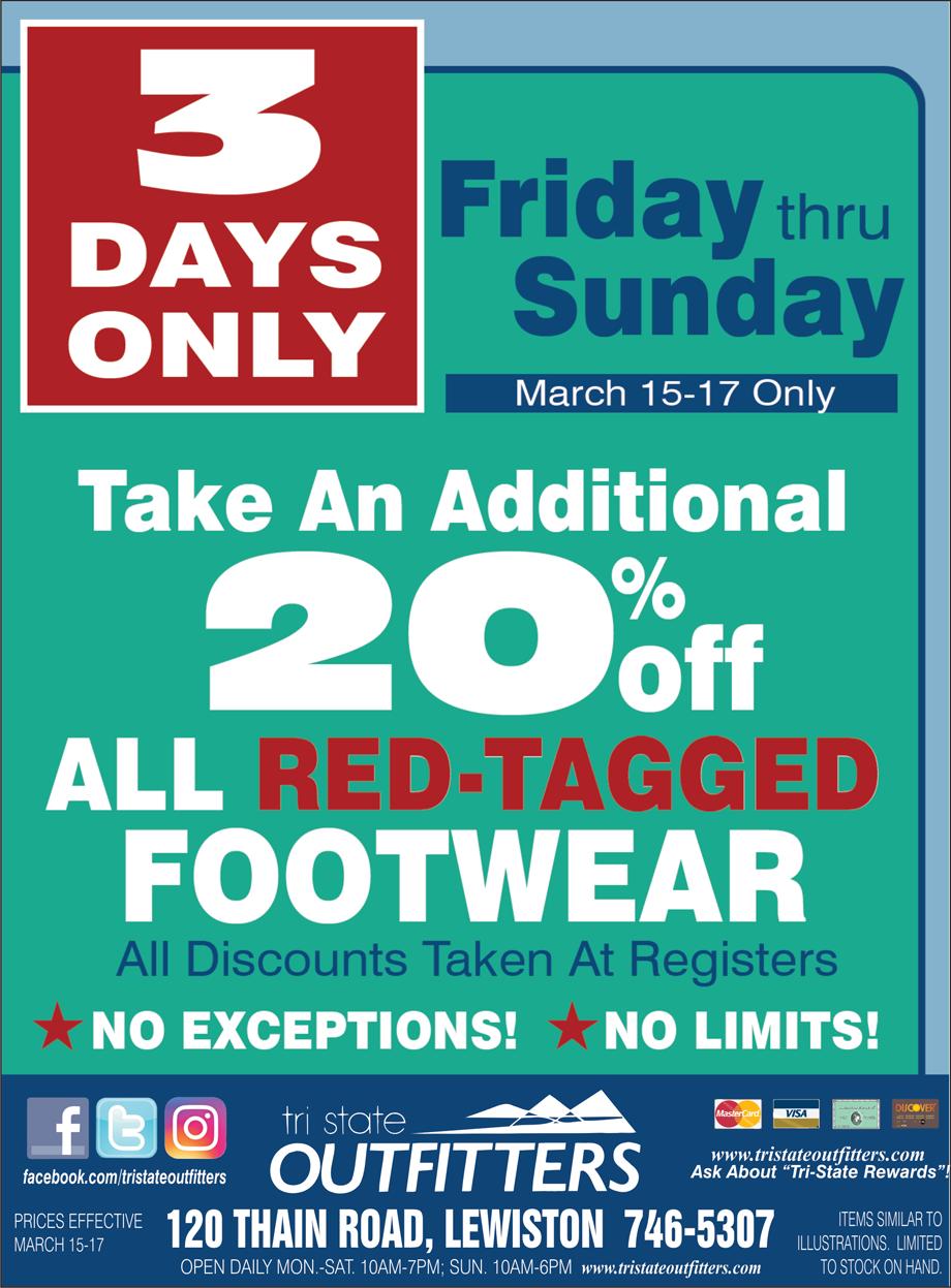 Lewiston – End-Of-Season Footwear Clearance Sale