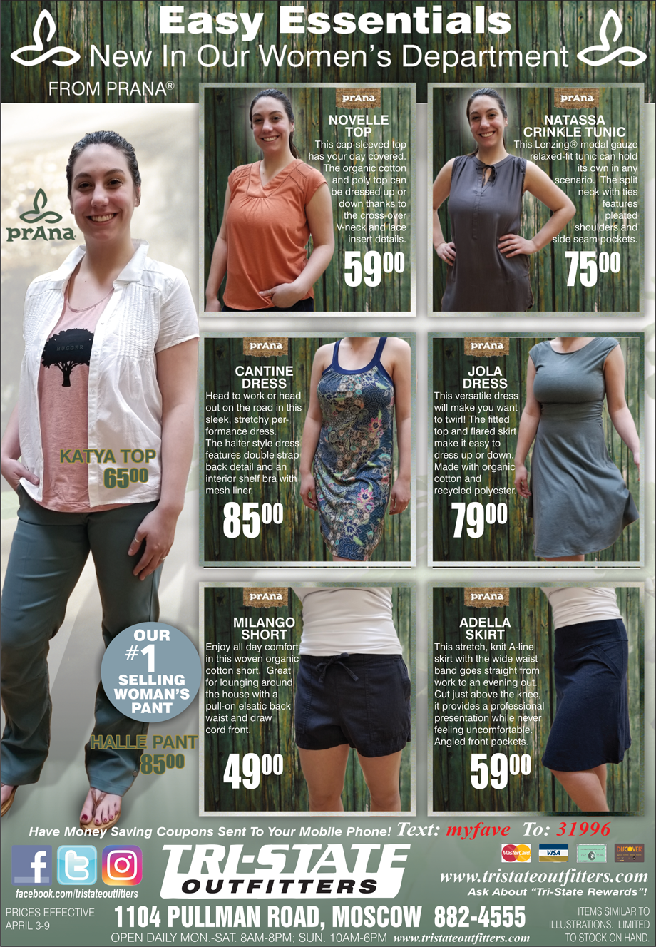 Moscow - Prana Women's Apparel - Tri-State Outfitters