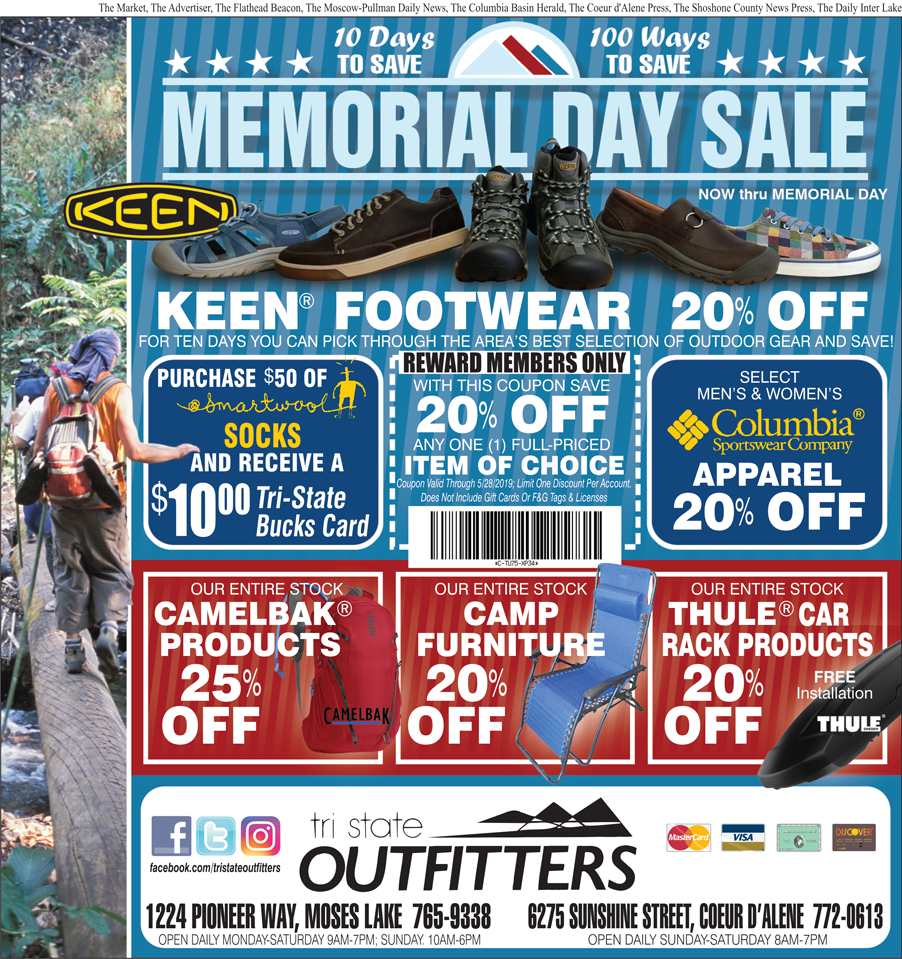 Moses Lake – 10-Day Memorial Day Sale