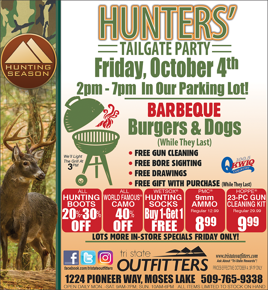 Moses Lake – Hunters Tailgate Party