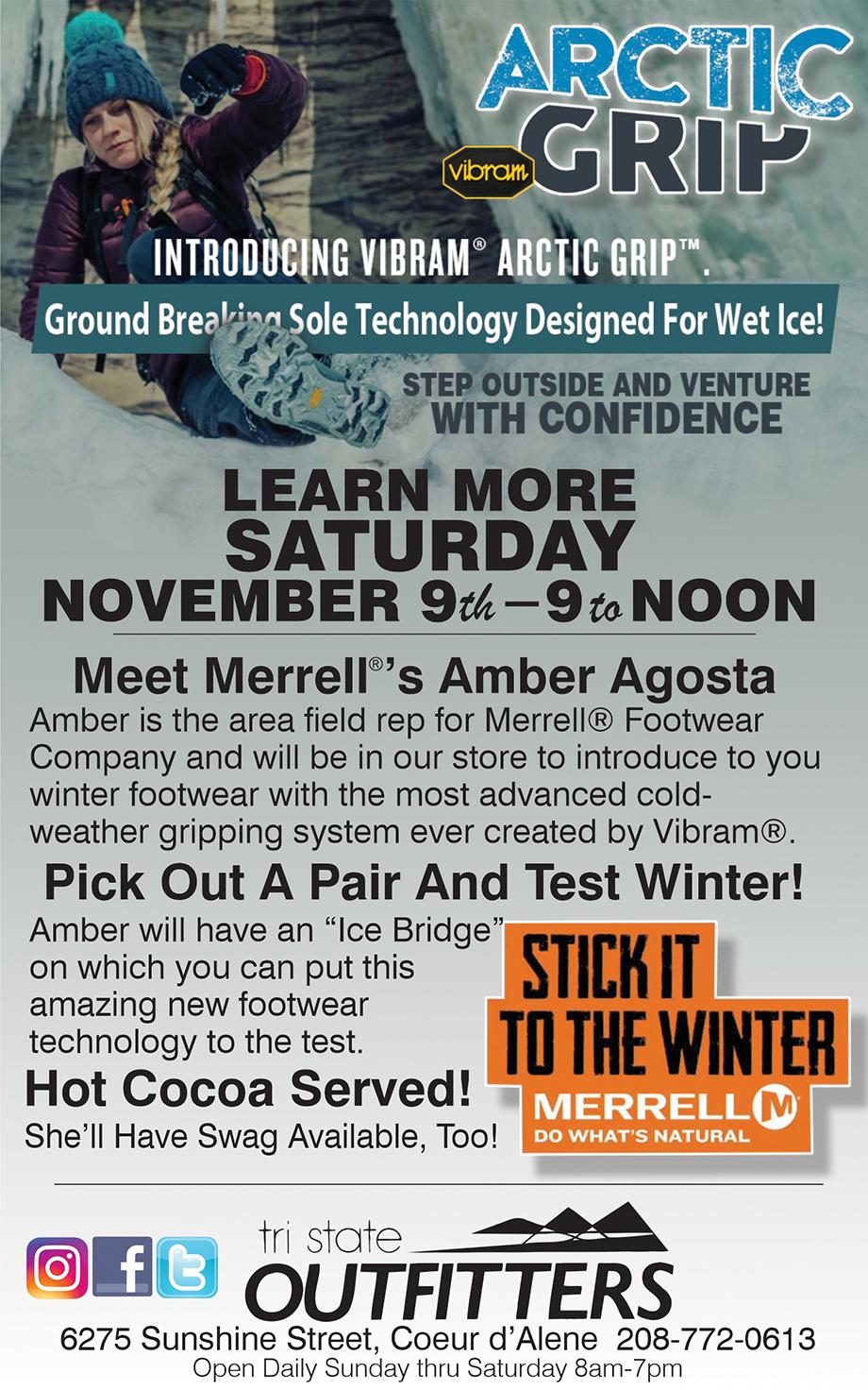 CDA – Merrell Arctic Grip Footwear Demo
