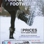 Coeur d'Alene – Foul-Weather Footwear Newsprint Advertisement