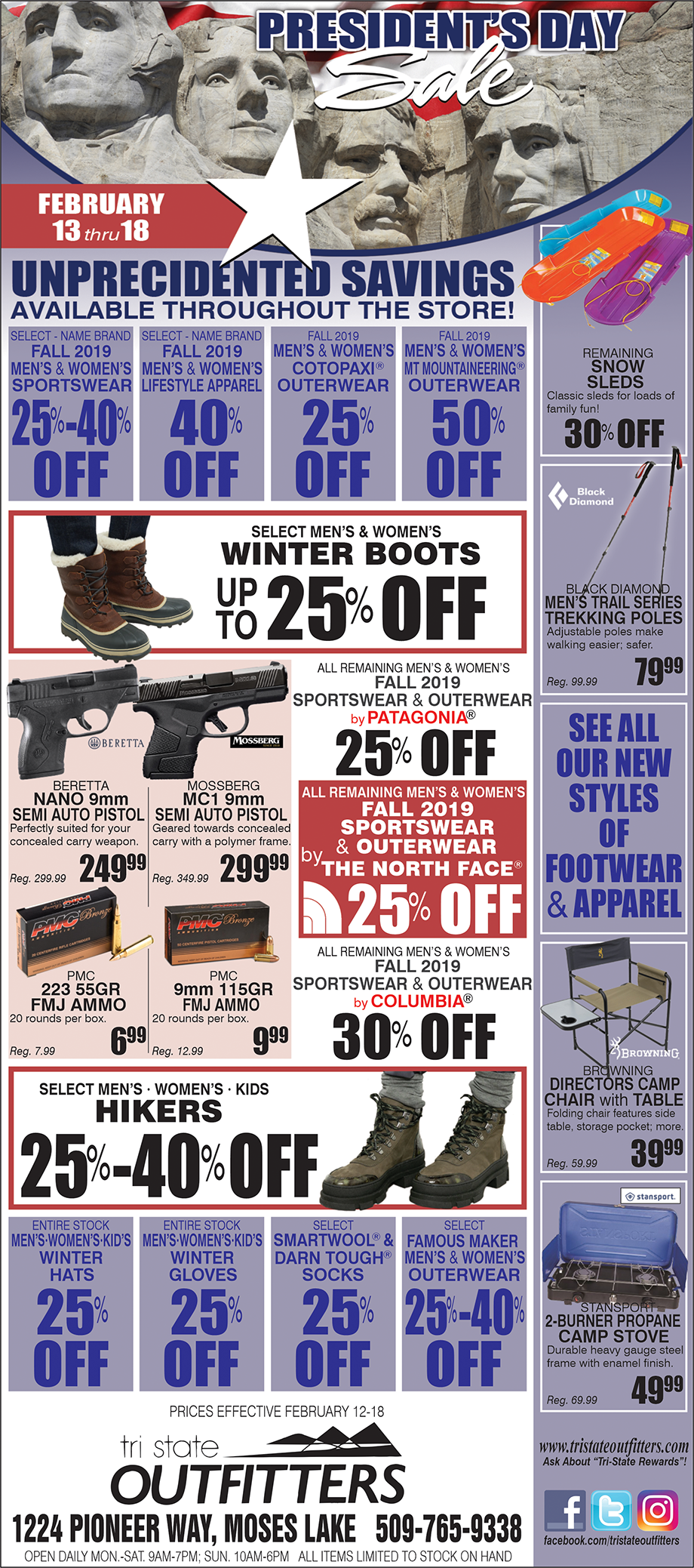 Moses Lake – Presidents' Day Sale