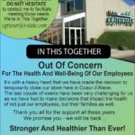 CDA – Temporary Closure Announcement Newsprint Advertisement