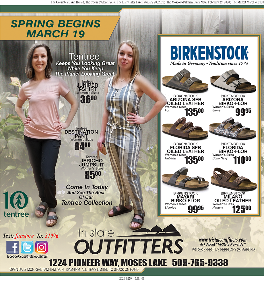 Moses Lake – Spring Begins March Flyer