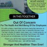 ML – Temporary Closure Announcement Newsprint Advertisement