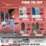 Moses Lake- Time To Fly! Footwear for Men and Women Newsprint Advertisement