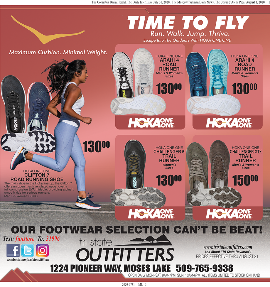 Moses Lake- Time To Fly! Footwear for Men and Women