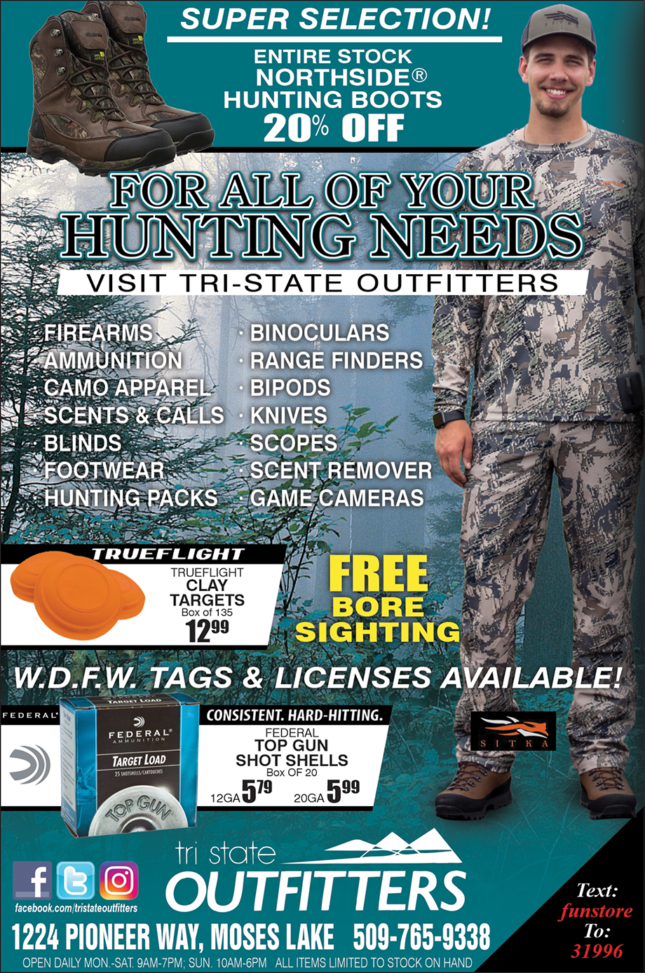 Moses Lake – All Your Hunting Needs!