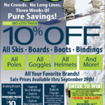 CDA – Cruncher Ski & Snowboard Sale Newsprint Advertisement