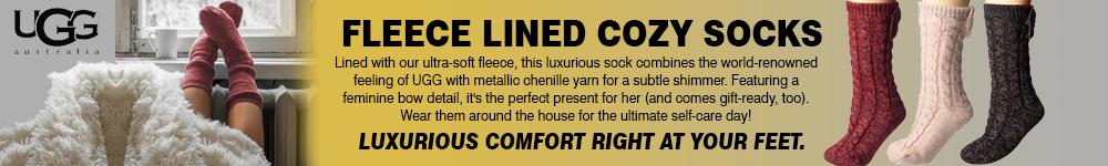 UGG FLEECE-LINED COZY SOCKS