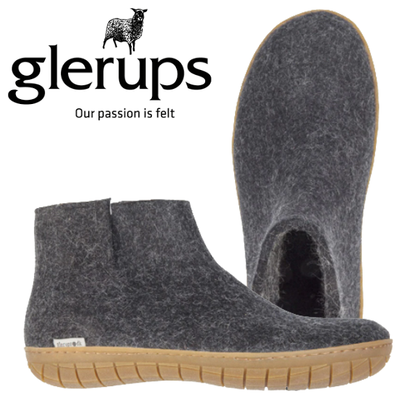 GLERUP UNI LOWBOOT CHARCOAL RUBBER